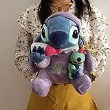 NC56 Lilo y Stitch Peluches Altura del Asiento 28Cm Biberón Stitch Animal de Peluche Muñeco Infantil Suave para Regalo