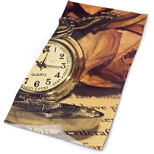 Annays Kerchief Retro Klok Rose Dagboek 25X50Cm Mannen Outdoor Hoofdband Hoofddeksels Multifunctionele Bandana Magic Sjaal Vrouwen