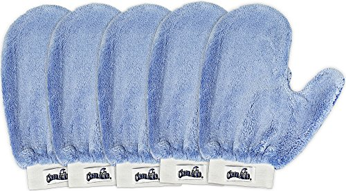 CleanAide Microfiber Terry Weave Mitt with Thumb, Pack of 5