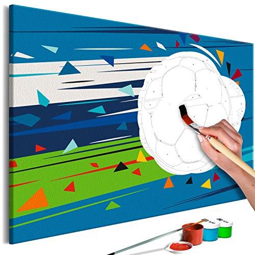 murando - Malen nach Zahlen Fussball 60x40 cm Malset mit Holzrahmen auf Leinwand für Erwachsene Kinder Gemälde Handgemalt Kit DIY Geschenk Dekoration n-A-0541-d-a