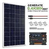 ECO-WORTHY Kit pannelli solari 100 Watt 12V + regolatore di carica 20A...