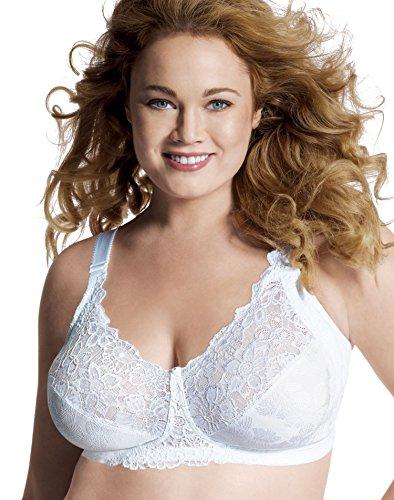 Just My Size Women's Comfort Lace Hidden Shapers Plus Size Bra (1111), White, 50DD