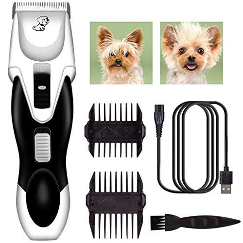DIANKLO professionele tondeuse hond elektrische tondeuse dier kat oplaadbare elektrische tondeuse 4 kammen verstelbare kop