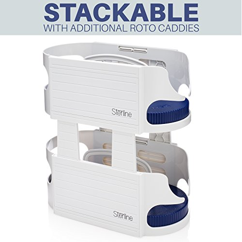 Sterline Cabinet Turntable - Lazy Susan for Storage and Organization, in Three Stackable Tiers - Small, Medium, Large