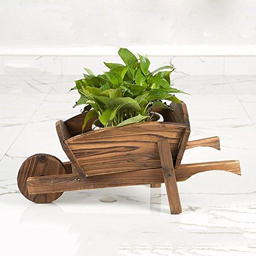 RJZHJ Bois massif Sapin de Chine Plus chaud Radis vert Flotteurs pot de fleur balcon jardin patio plante Bonsai cadre Pot de fleurs Présentoir , Brown , A