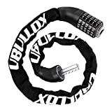 UBULLOX Bike Chain Lock 3FT Bike Lock 5-Digit Combination Bike Lock Anti-Theft Bicycle Lock Resettable Bike Lock Chain for Bicycle, Motorcycle and More