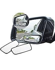 Espejo retrovisor de punto ciego Meipro con rotación de 360° para coches. Espejo lateral convexo de rotación ajustable con cristal HD