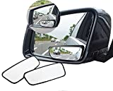 meioro 360° Rotate Blind Spot Mirror,Adjustabe Wide Angle Rear View Mirror HD Glass