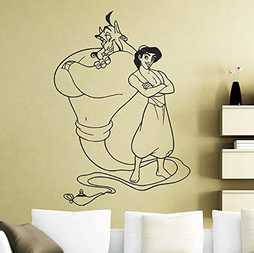 Aladdin en de magische lamp muurtattoo sticker Home Decoration Any Room waterdichte sticker 58 * 55 cm