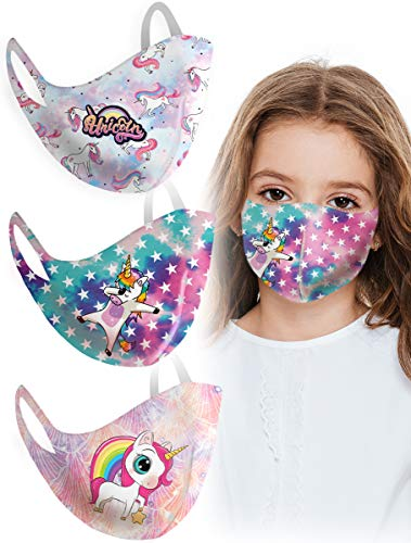 XYNC (3 Pack) Kids (3-8 Years) Easy Breathable, Reusable & Washable Face Covering