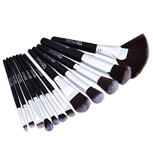 MagiDeal Ensemble De Brosses De Maquillage De 12 Pièces Set Powder Foundation Oeil à Paupières Lip Comestic Tool