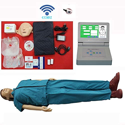 TZYY Adult CPR Training Manikin, Basic CPR Training Kit with HD LCD Monitor Wireless Connections Operation Result Printing for First Aid Training