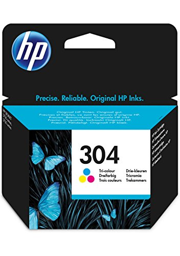 HP N9K05AE 304 Cartucho de Tinta Original, 1 unidad, tricolor (cian, magenta, amarillo)