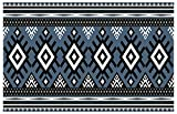 Pattern Ethnic Goal Planner Book : Ethnic fabric texture pattern Abstract Geometric Aztec oriental retro embroidery repeating (English Edition)
