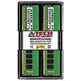 A-Tech 32GB (2x16GB) DDR4 2400MHz DIMM PC4-19200 UDIMM Non-ECC 2Rx8 1.2V CL17 288-Pin Desktop Computer RAM Memory Upgrade Kit