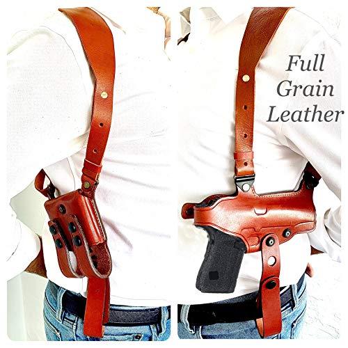 Aysesa Rig for Glock 19 Leather Shoulder Holster fits Many Glock...