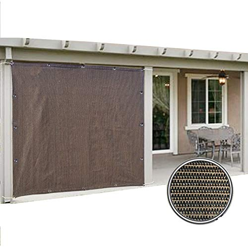Filet d'ombrage Écran de Confidentialité pour Terrasse de Balcon avec Œillets, Marron Tissu Pare-soleil pour Jardin/Plante/Serre, Cryptage Robuste (Size : 1×2m)