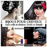 12 BIJOUX CHEVEUX CRISTAL BLANC ORNES DE STRASS SWAROVSKI SEPARABLES ET REPOSITIONNABLES. Accessoires cheveux et bijoux de...