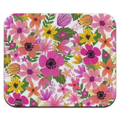 Mouse Mat, Vivid Flowers Low Profile Thin Mouse Pad 8 x 10 Inch Mousepad, Gaming Mouse Pad