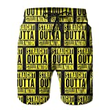 NiYoung Mens Casual Straight Outta Steeler-Nation Yellow Black...