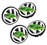 Cubiertas Debujes para VW Volkswagen 65mm Series, Chapas Centrales para Ruedas con Luz, Suspendido Casquillo De Cubo De Rueda De Coche, El Logotipo De La Rueda Permanece Estacionario Mientras Conduce