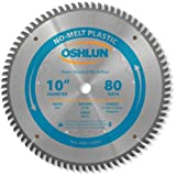 Oshlun SBP-100080 10-Inch 80 Tooth MTCG Saw Blade with 5/8-Inch Arbor for...
