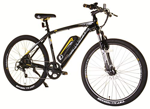 Swifty Electric Mountain Bike, Black/Yellow