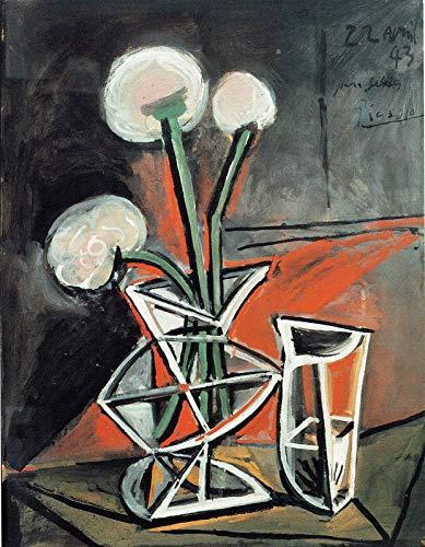 P6680 A4 Poster Pablo Picasso Vase 1943 – Kunstgemälde Film Spiel Film Auto – Wandgeschenk Reproduktion alte Vintage-Dekoration