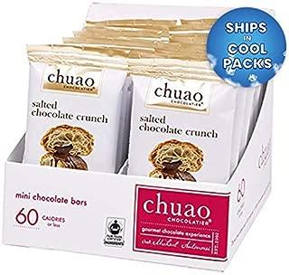 Chocolate Bars - Chuao Chocolatier Chocolate Bars 24pk (.39 oz mini bars) - Best-Selling Chocolate Pack - Gourmet Artisan Dark Chocolate - Free of Artificial Flavors (Salted Chocolate Crunch)