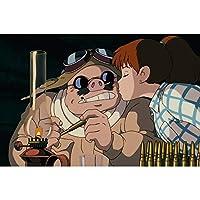 大人のためのDIY5Dダイヤモンド絵画キット紅の豚日本の漫画、子供のためのクロスステッチの宝石アート絵画家の壁の装飾に最適(正方形、40×50cm)