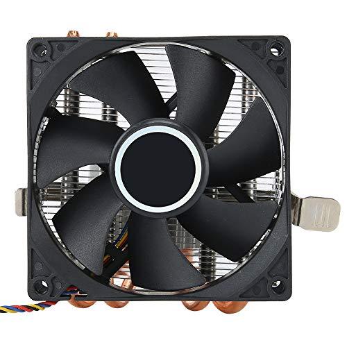 Enfriador de CPU, 4 radiadores de CPU de Tubo de Calor de latón de 6 mm, 12V 4Pin, para AMD 775/1150/1151/1155/1156/1366