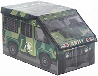 Camo Army Military| Kids Collapsible Toy Storage Bin Organizer Toy Box Folding Storage Ottoman for Bedroom| Easter Basket ...