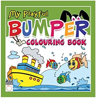 My Playful Bumper Colouring Book- Green