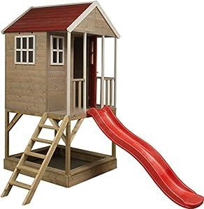 Wendi Toys M8 Nordic Adventure House   Casita infantil de madera para exterior   Casa de jardín de tipo abierto   casa de aventura nórdica en plataforma