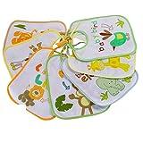 Asmi Bindelätzchen Safari 7er Pack Rückseite mit PEVA Latz Lätzchen