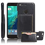 Excelsior Premium Leather Card Holder Back Cover Case for Google Pixel XL (5.5 Inch) - Black