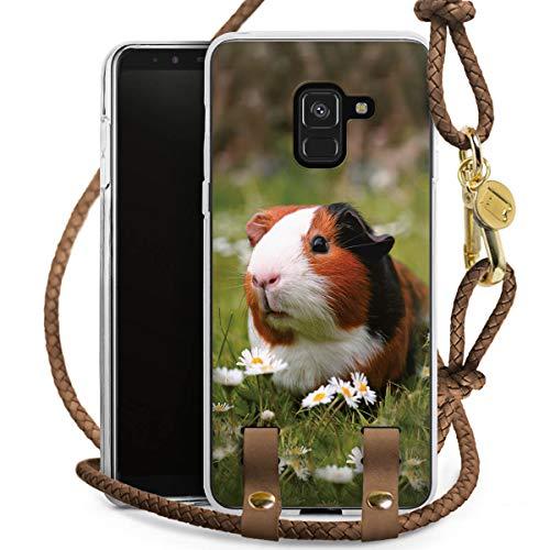 DeinDesign Carry Case kompatibel mit Samsung Galaxy A8 Duos 2018 Handykette Handyhülle zum Umhängen Hamster Tiere Meerschweinchen