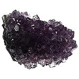 DOITOOL Natural Cluster Cristales Piedras Piedra Cuarzo Rock Cristal Decoración del Hogar Artesanía Regalos (Púrpura)