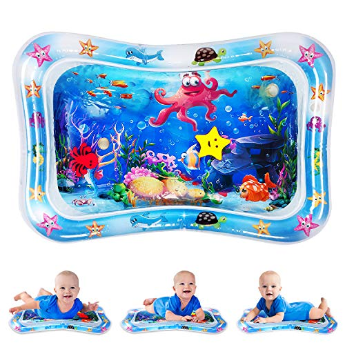 uDark Tummy Time Mat, Inflatable Wet Pelican Baby Water Play mat Baby Toys for 6 to 12 Month Baby, Newborn Boys and Girls Infant Early Development