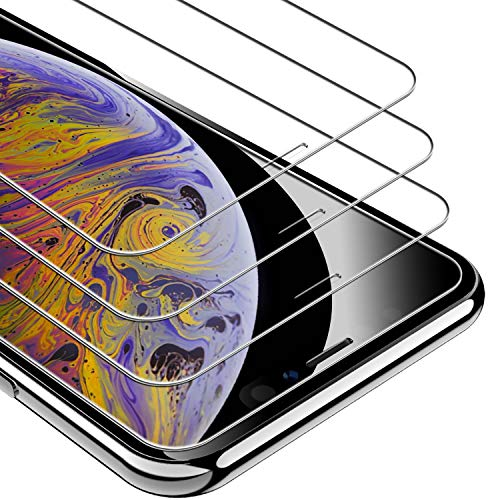 UNBREAKcable iPhone 11 Pro Max Screen Protector, iPhone Xs Max Screen Protector 3 Pack, 9H Hardness Tempered Glass Screen Protector for iPhone Xs Max/ 11 Pro Max, Case Friendly, Anti-Scratch