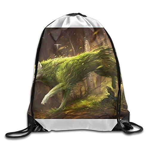 Just Life Dog Pulling-knapsack Backpack Sport Gym Sack Drawstring Backpack Bag