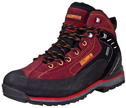GUGGEN Mountain PM020 Damen Herren Trekking-& Wanderstiefel Wanderschuhe Trekkingschuhe Outdoorschuhe wasserdicht mit Membran und Wildleder Farbe Rot EU 44