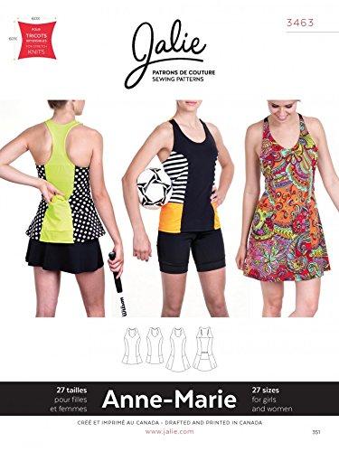 Jalie Schnittmuster 3463 für Damen und Mädchen, Anne Marie Tank & Kleid