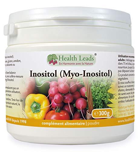 Inositol (Myo-Inositol) Poudre 300g, Aussi appelé Vitamine B8, Haute Absorption, Vegan, Sans stéarate de magnésium u additifs nocifs, NON-OGM, Avec pelle gratuite, Produit au Pays de Galles
