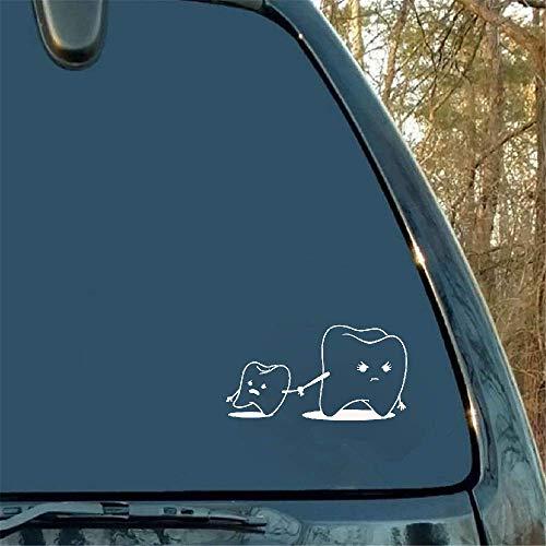 19 * 10 cm Cartoon Tanden Grappige accessoires aftrekplaatjes autosticker zwarte kofferbak achter embleem lijm badge voor Mercedes Chevrolet Dodge