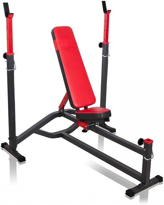 Panca pesi piana e inclinata marbo sport, allenamento petto spalle e braccia MS-L105