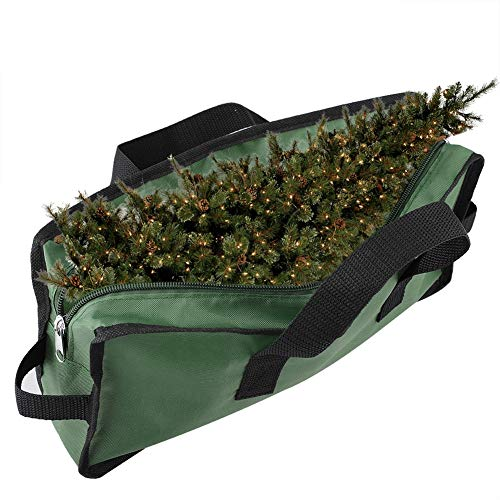 Christmas Tree Storage Bag for 7 Ft Artificial Tree Xmas Storage Container with Durable Handles & Dual Zipper Holiday Tree Storage Box Fit Tall Disassembled Trees 420D Oxford to Protect Against Dust
