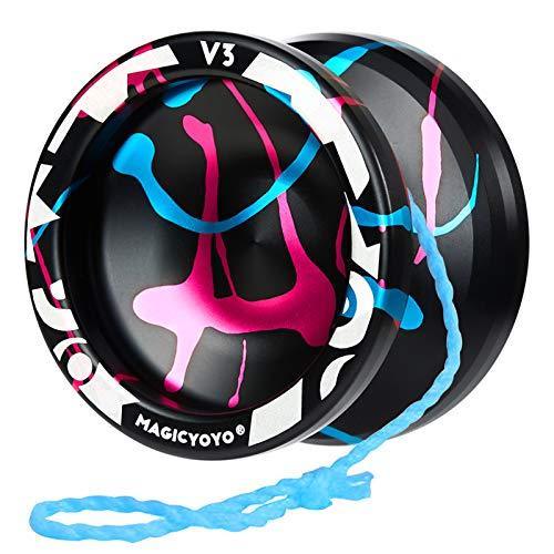 MAGICYOYO Yoyo V3 reattivo, Yoyo in Alluminio per Bambini Principianti, Yoyo Professionale reattivo con Cuscinetto Che Non risponde + Strumento di rimozione del Cuscinetto + Borsa + 5 Corde Yoyo