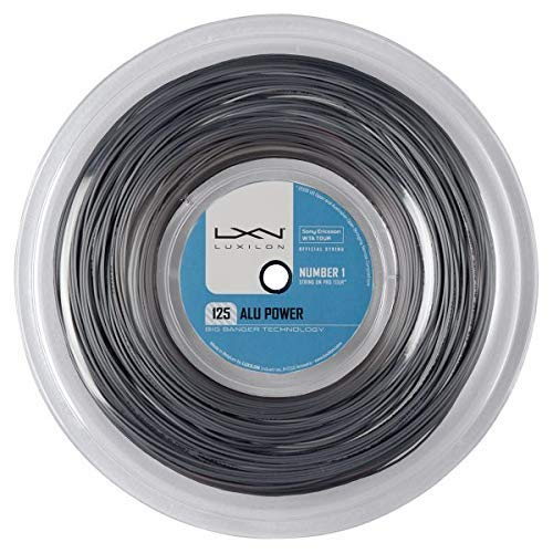 Luxilon Alu Power 125 Cordaje de tenis, rollo 220 m, unisex, plateado, 1.25 mm
