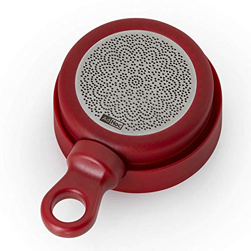 AdHoc TE34 MagTea Filtre à thé magnétique Rond en Plastique et Acier Inoxydable Rouge 9 cm